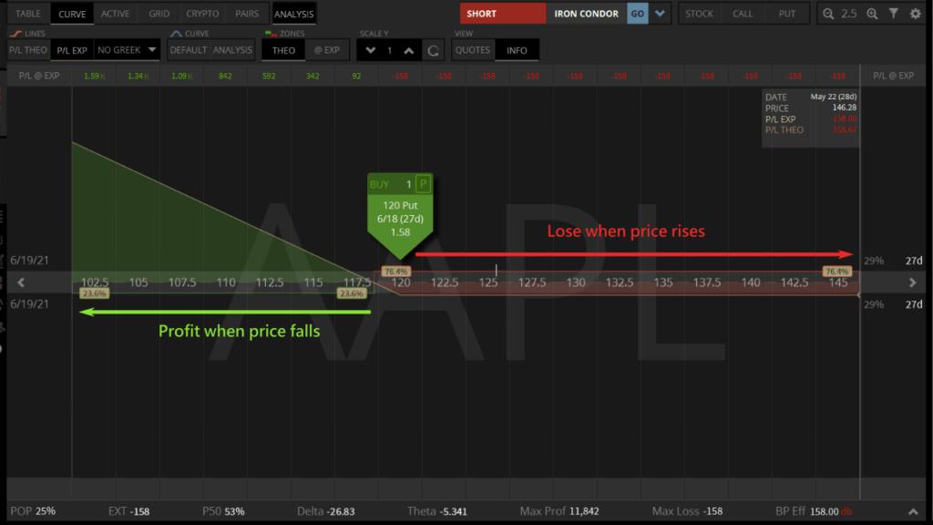 long put option profit analysis