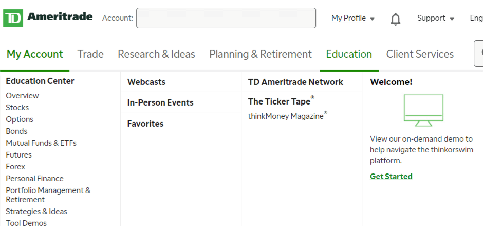 td ameritrade educational resources